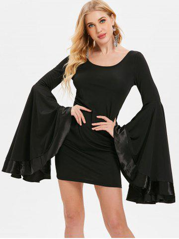 Bell Sleeve Mini Slim Dress