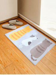 Cute Cartoon Cat Print Soft Anti-skid Area Rug -