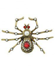 Spider Shaped Rhinestone Brooch -