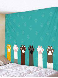 Cat Claw Printed Tapestry Wall Art Decoration -