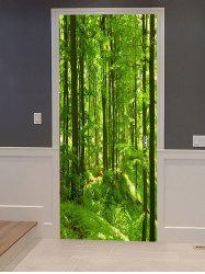 Mountain Forest Print Door Art Stickers -