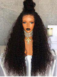 Long Free Part Fluffy Water Wave Lace Front Synthetic Wig -