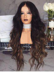 Long Center Parting Wavy Ombre Synthetic Wig -