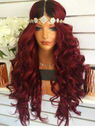 Long Middle Part Ombre Body Wave Synthetic Wig -
