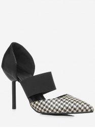 Plus Size Pointed Toe Plaid Chic Pumps -