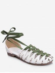 Plus Size Lace Up Leisure Hollow Out Sandals -