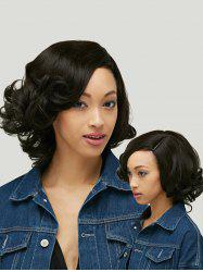 Shaggy Short Curly Capless Side Parting Heat Resistant Synthetic Wig -