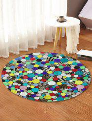 Full Dot Print Anti-skid Round Floor Mat -