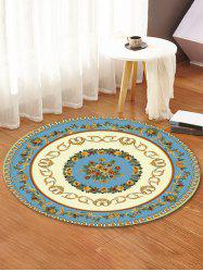 Classic Flower Ring Print Round Area Rug -
