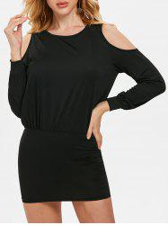 Bodycon Open Shoulder Mini Dress -