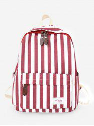 Color Block Stripes Functional Backpack -
