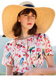 Stylish Bowknot Oversized Straw Sun Hat -