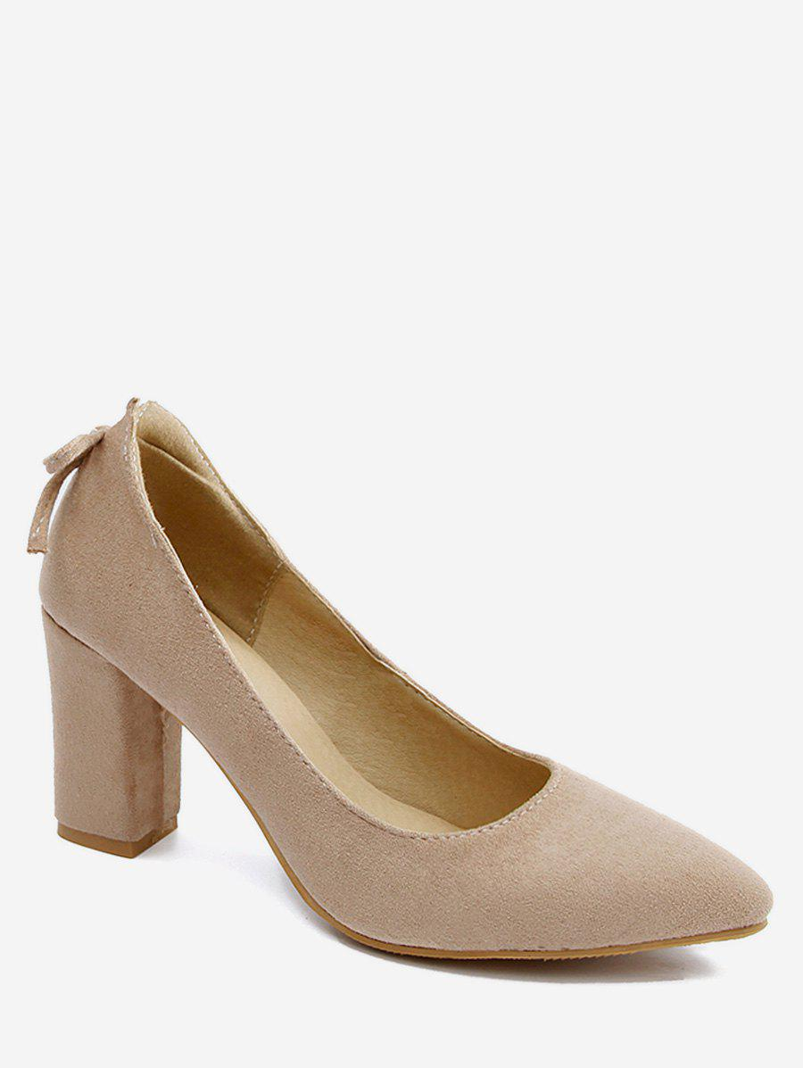 Discount Plus Size High Heel Pointed Toe Bow Pumps