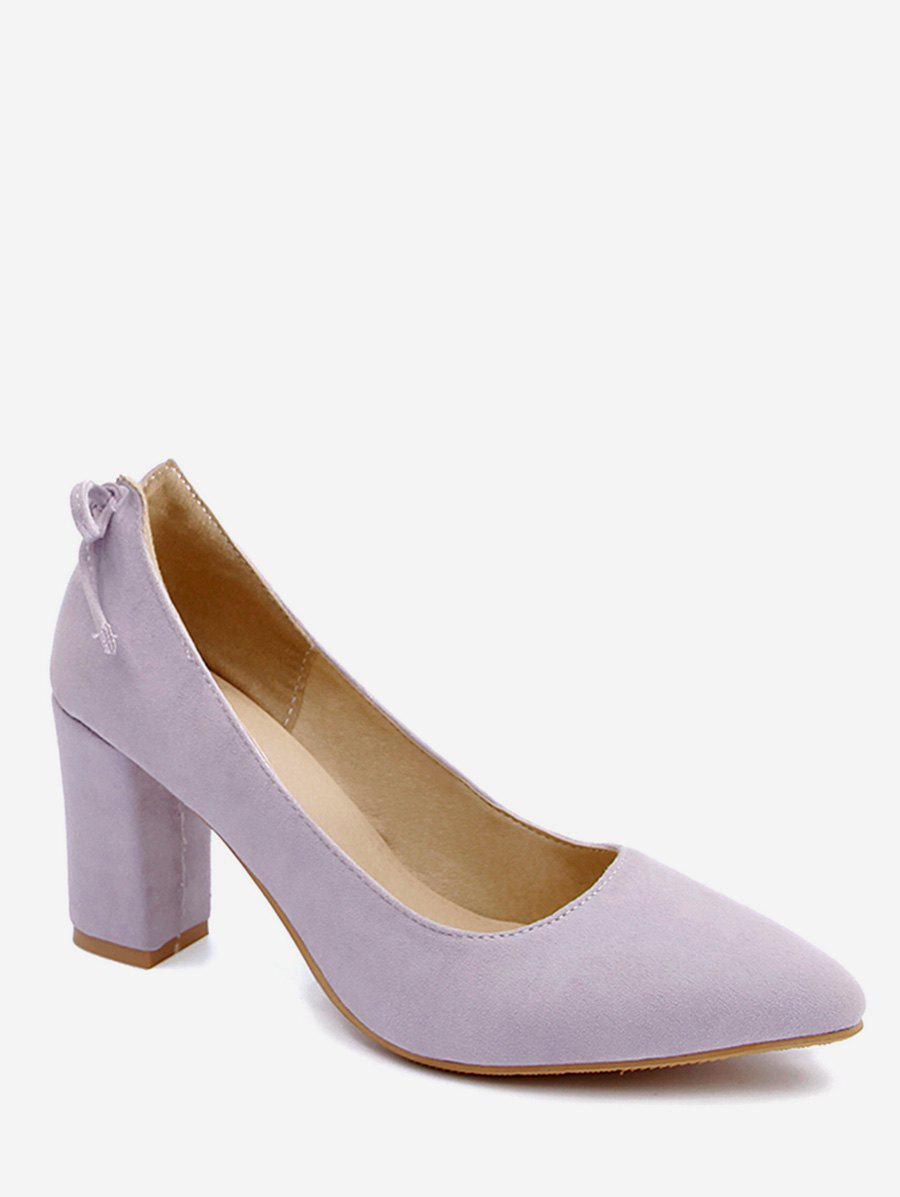 Best Plus Size High Heel Pointed Toe Bow Pumps