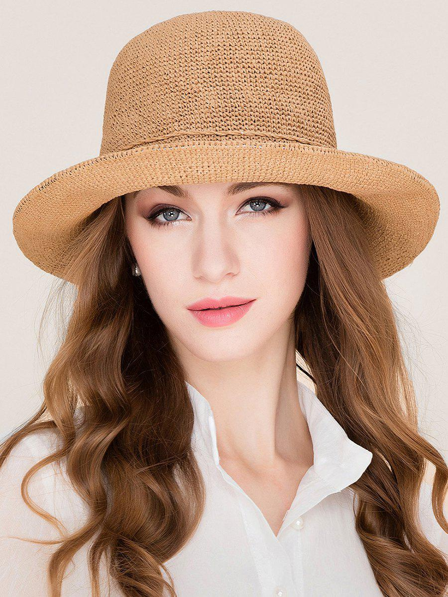 Trendy Stylish Wide Brim Foldable Holiday Straw Hat