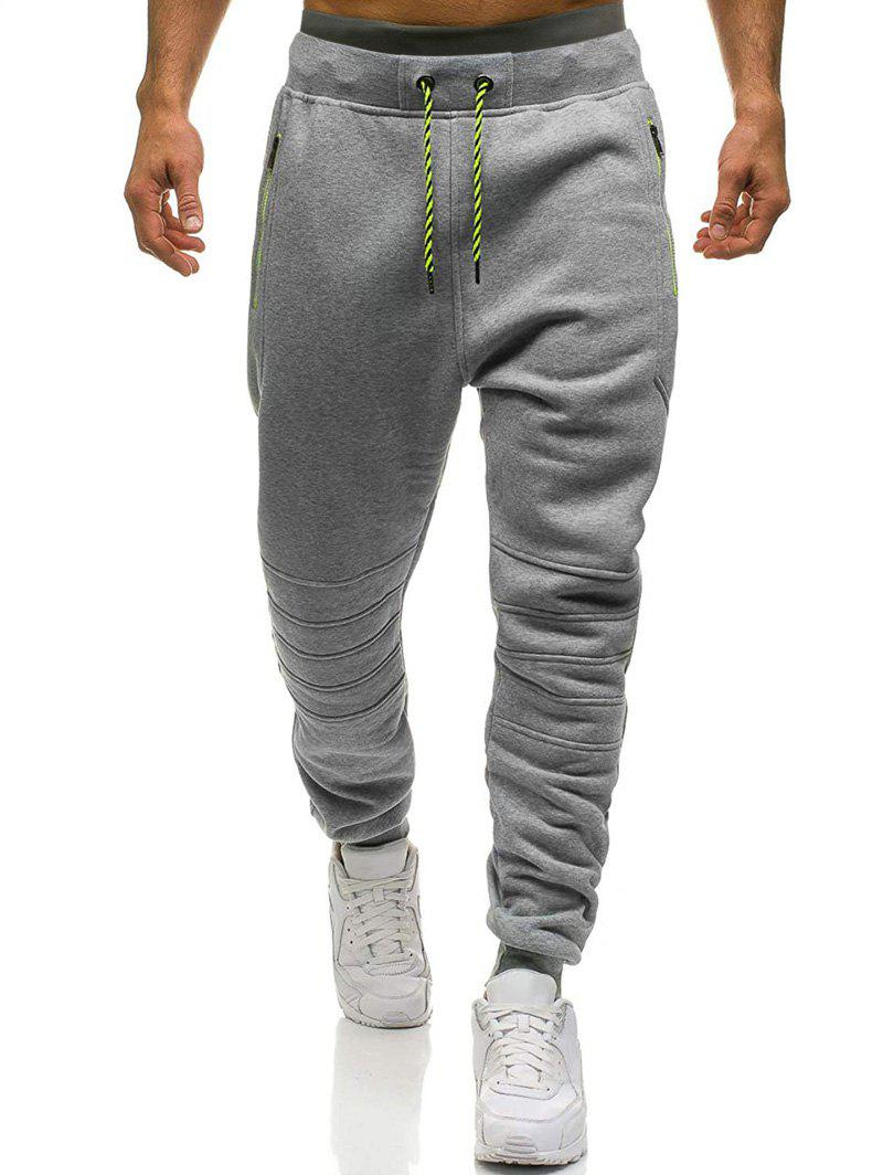 Best Knee Seam Zipper Pockets Sports Fleece Jogger Pants