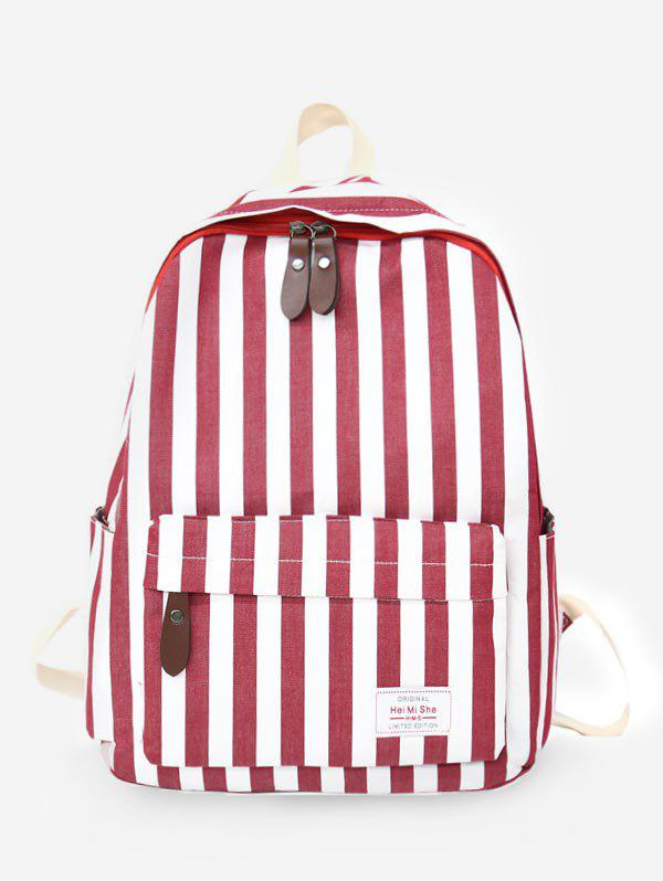 Affordable Color Block Stripes Functional Backpack