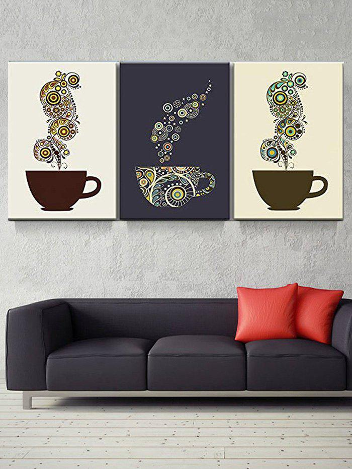 Online Coffee Cup Print Unframed Split Canvas Paintings