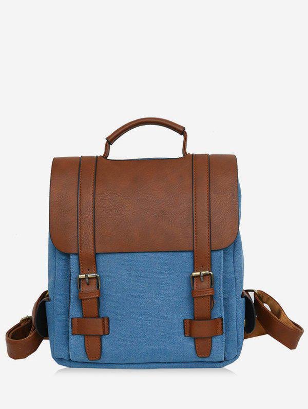 Store Color Block Casual Buckles Flap Backpack