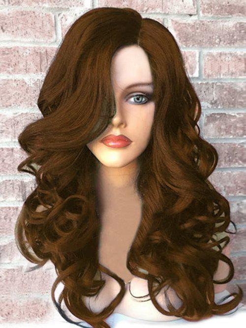 Affordable Side Part Long Fluffy Wavy Synthetic Wig