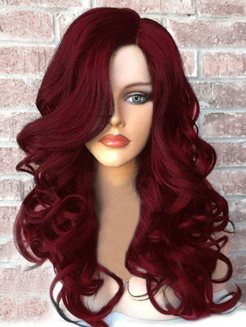 Discount Side Part Long Fluffy Wavy Synthetic Wig