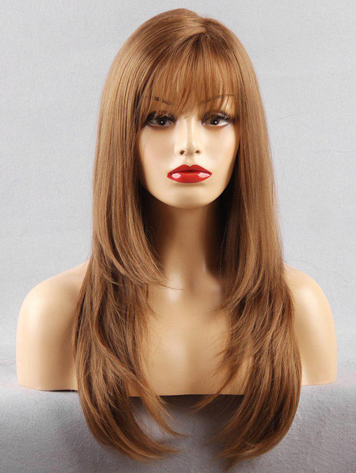 Outfits Long See-through Fringe Layered Straight Synthetic Wig
