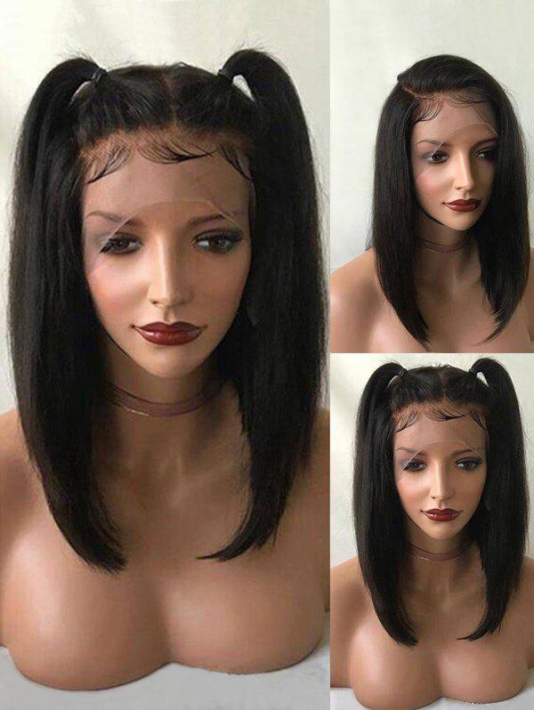 Affordable Medium Free Part Straight Synthetic Lace Front Wig