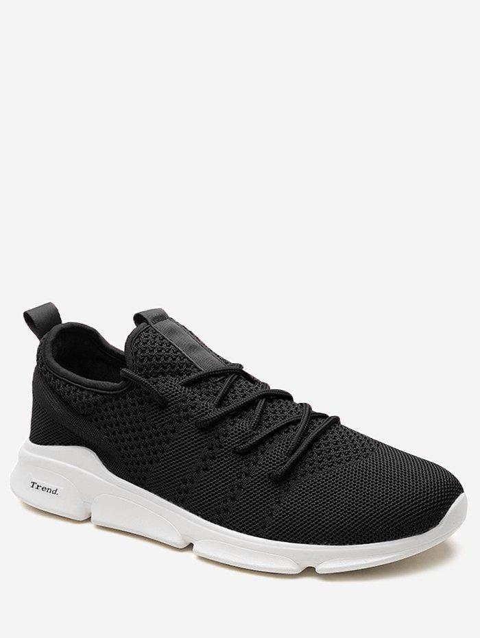 Fashion Lace Up Letter Embellished Sports Sneakers