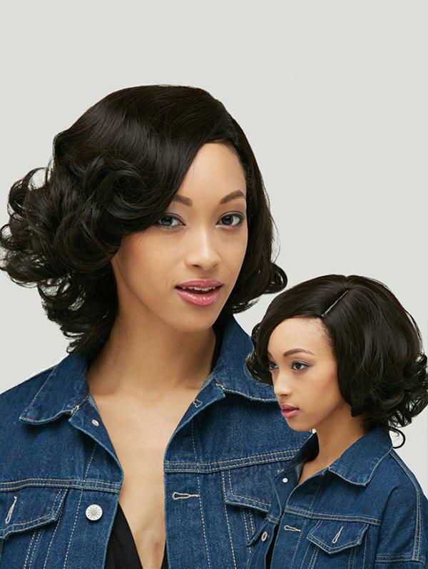 Store Shaggy Short Curly Capless Side Parting Heat Resistant Synthetic Wig