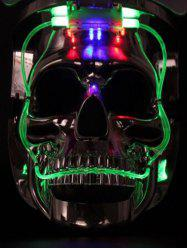 Masque d'Halloween LED Lumineux en Forme de Crâne Design Cosplay -