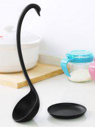 Swan Long Handle Soup Ladle with Tray -