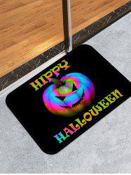 Halloween Colorful Pumpkin Pattern Water Absorption Area Rug -