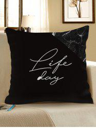 Life Printed Decorative Linen Pillowcase -