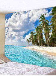 Wall Hanging Art Seaside Palm Forest Print Tapestry -