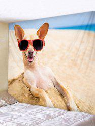Beach Funny Dog Print Tapestry Wall Decoration -