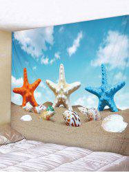 Starfish Conch Beach Tapestry Art Decoration -