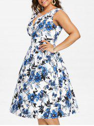 Plus Size Sleeveless Fit and Flare Dress -