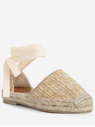 Low Heel Espadrille Straw Fisherman Sandals -