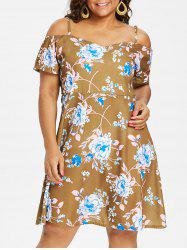 Plus Size Flower Cami Dress -
