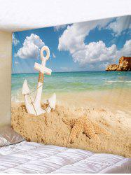 Starfish Beach Anchor Tapestry Wall Decoration -