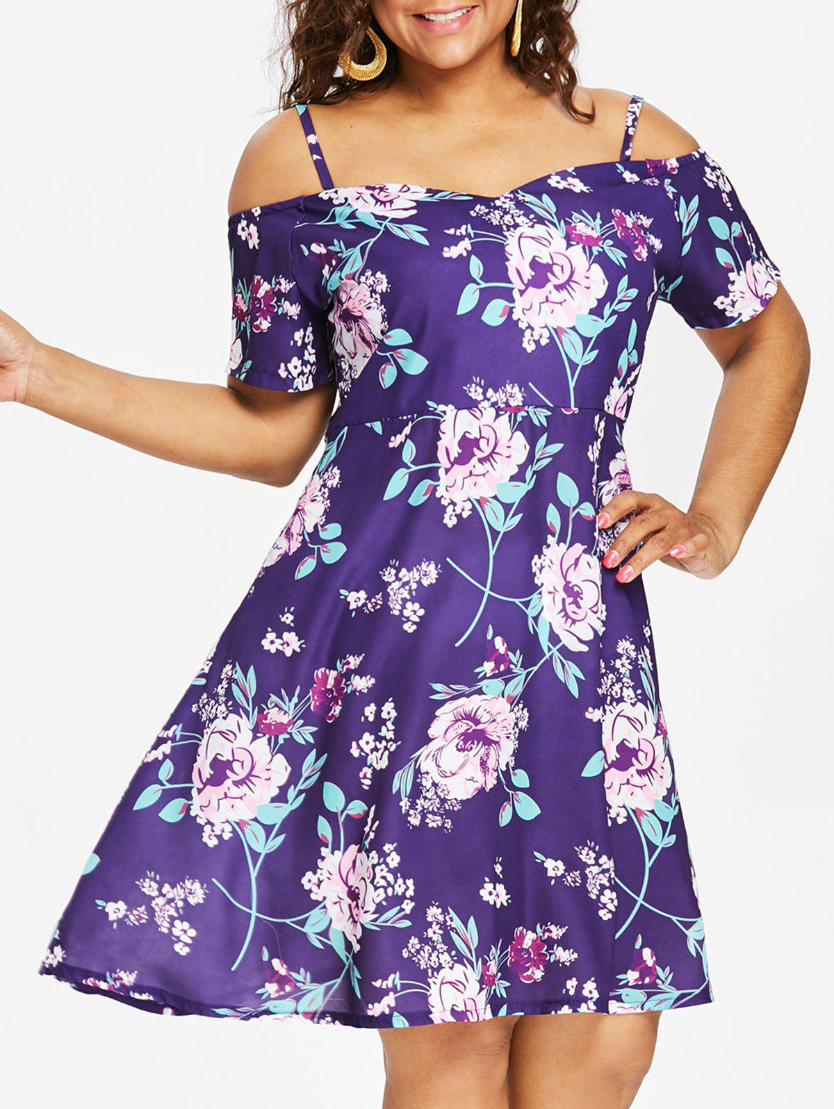 Store Plus Size Flower Cami Dress