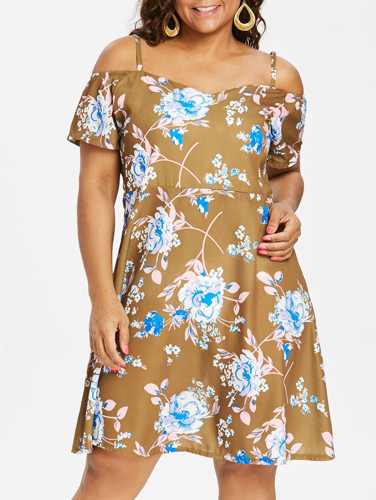 Latest Plus Size Flower Cami Dress