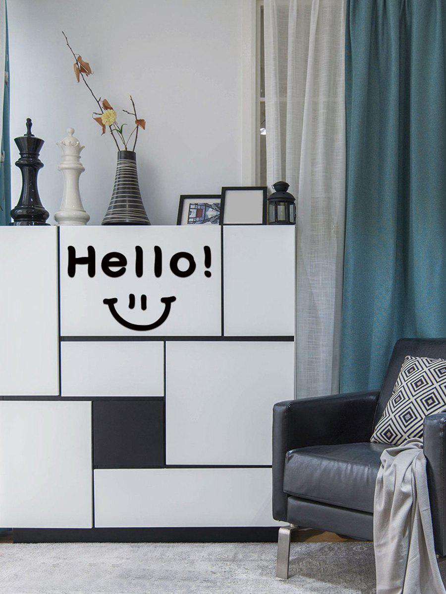 New Smiley Face Hello Pattern Removable Wall Sticker
