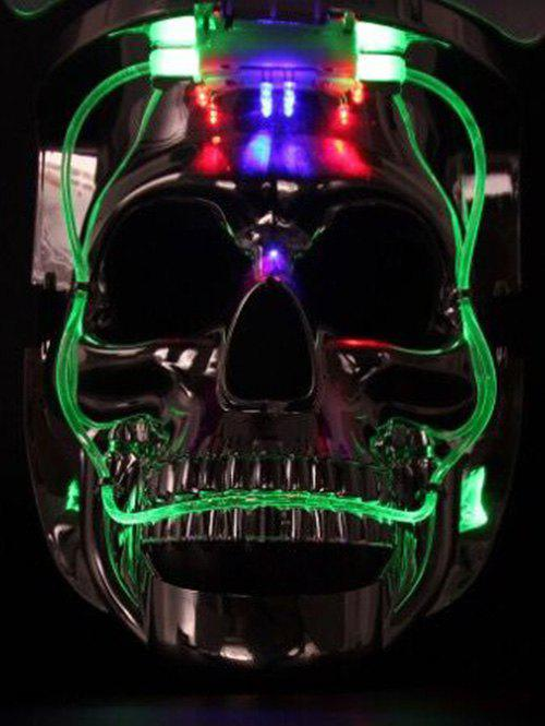 Discount Skull Shape Cosplay Party Luminous LED Halloween Mask