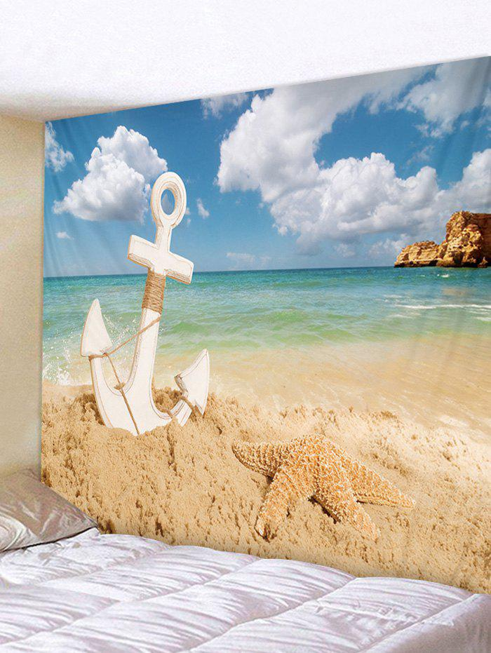 Trendy Starfish Beach Anchor Tapestry Wall Decoration