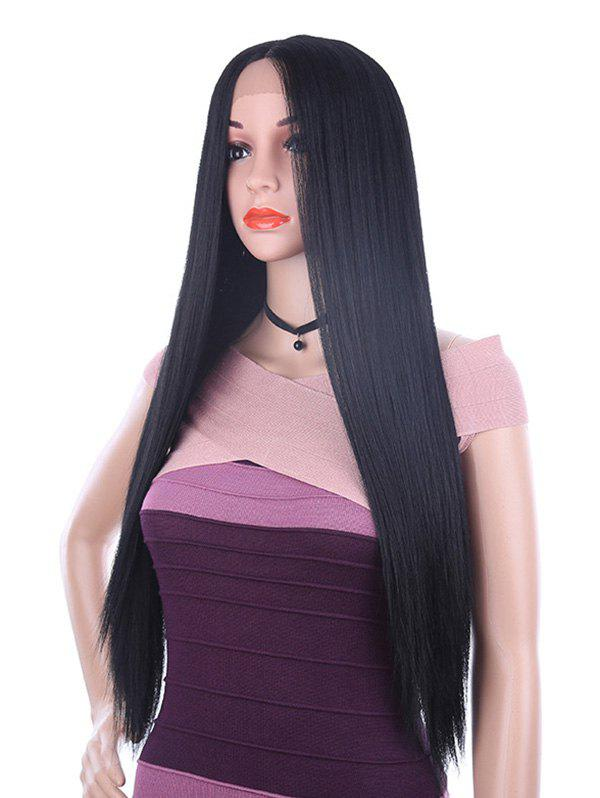 Sale Long Middle Part Straight Lace Front Synthetic Wig