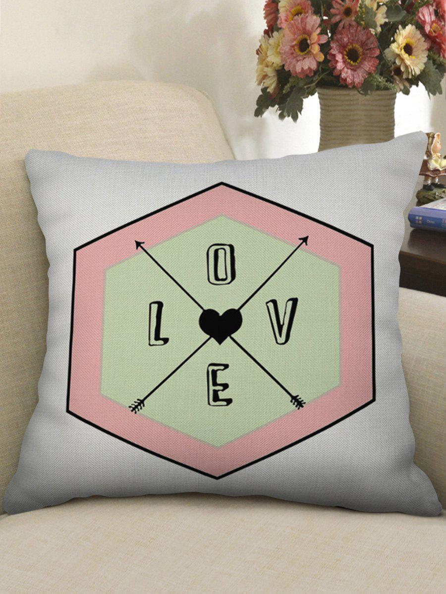 Shops Love Heart Geometric Decorative Pillowcase
