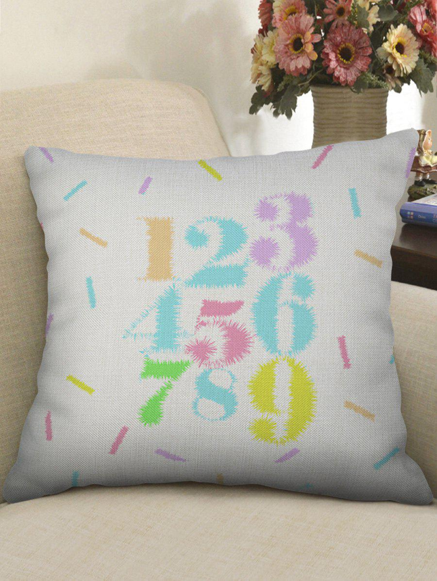 Shops Number 1 to 9 Printed Decorative Linen Pillowcase