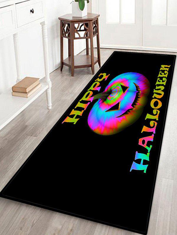 Latest Halloween Colorful Pumpkin Pattern Water Absorption Area Rug