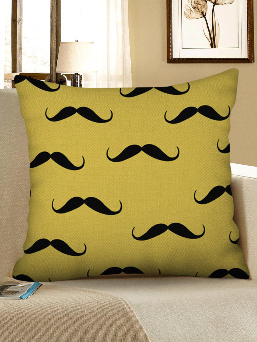 Outfits Mustache Printed Decorative Linen Pillowcase
